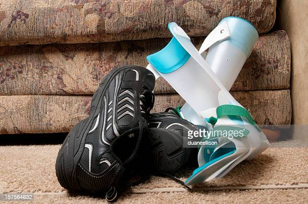 Einlagen auf Etage mit Schuh