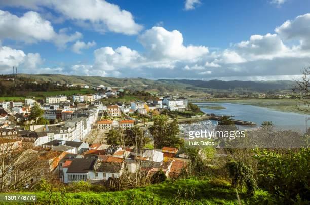 ortigueira high angle view - a coruna stock pictures, royalty-free photos & images