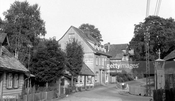 Ortsansicht von Schierke mit Pension aufgenommen 1960