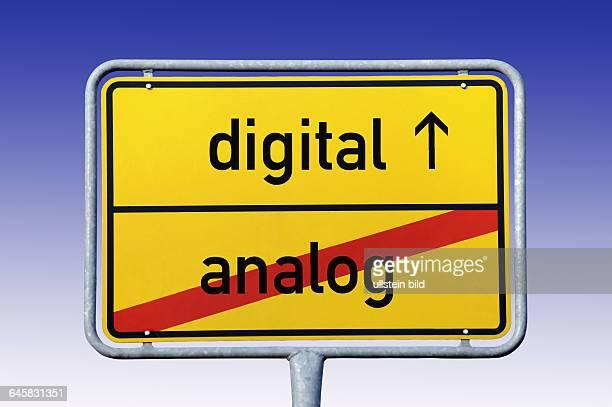 Ortsschild digital Ende analog