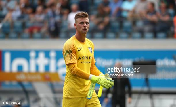 Ortwin De Wolf of Kas Eupen looks dejected during the Jupiler Pro League match between KAA Gent and AS Eupen at Ghelamco Arena on August 4 2019 in...
