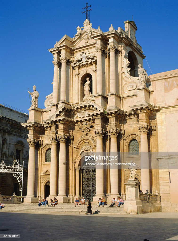 Ortygia Cathedral, Siracusa, Sicily, Italy : Foto de stock