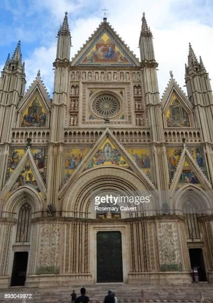 Orvieto Cathedral facade, Orvieto, Umbria, Italy.