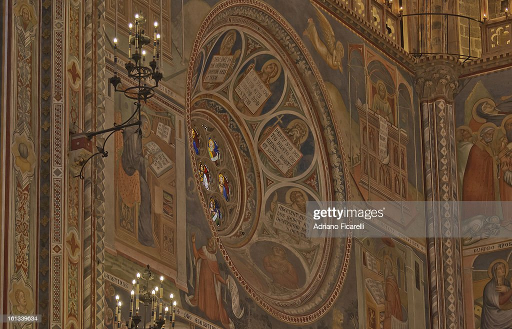 Orvieto Cathedral - Partial view of the apse : Foto stock