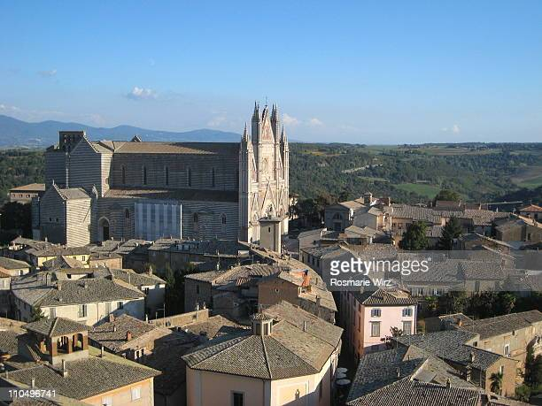 orvieto cathedral - orvieto stock pictures, royalty-free photos & images