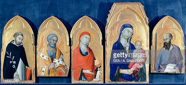 Orvieto Museo Claudio Faina Saint Domenic's Altarpiece by Simone Martini tempera and gold on wood panel 113x257 cm