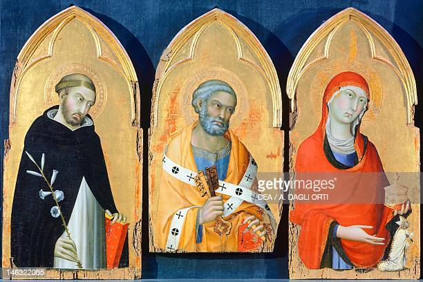Orvieto Museo Claudio Faina St Peter St Mary Magdalen and St Dominic detail from the Altarpiece of San Domenico by Simone Martini