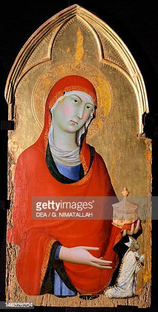 Orvieto Museo Claudio Faina The Magdalene 13231324 detail of the Altarpiece of St Dominic by Simone Martini tempera and gold on wood panel 113x257 cm