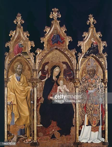 Orvieto Museo Claudio Faina Triptych of St Nicholas ca 1440 by Giovanni di Paolo