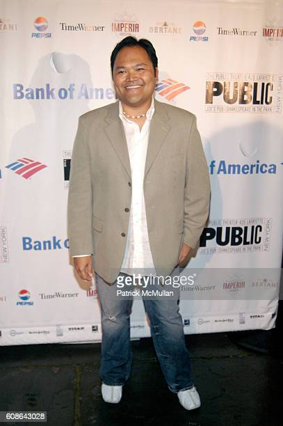 Orville Mendoza attends Public Theatre Gala at Central Park on June 19 2007 in New York City