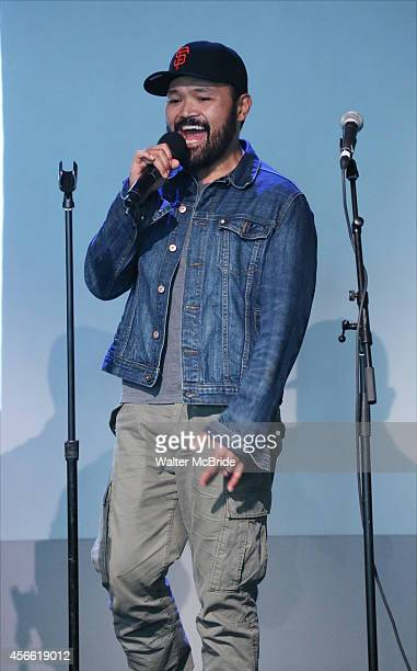 Orville Mendoza from the cast of 'Found' attend an Exclusive Apple Soho Store First Public Live Performance Creative Discussion at the Apple Store...