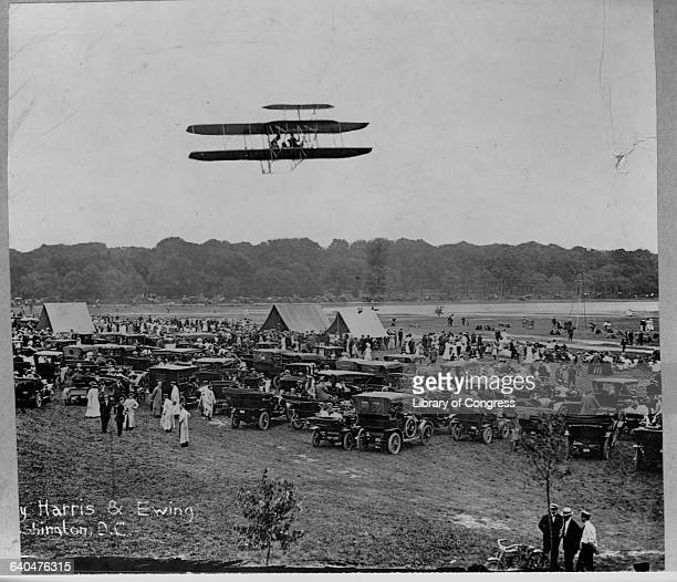 Orville Wright and his first military student Lieutenant Frank Lahm completed a flight of over one hour at Fort Myer | Location Near Arlington...