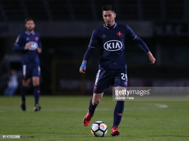 Os Belenenses defender Florent Hanin from France in action during the Primeira Liga match between Vitoria Setubal and CF Os Belenenses at Estadio do...