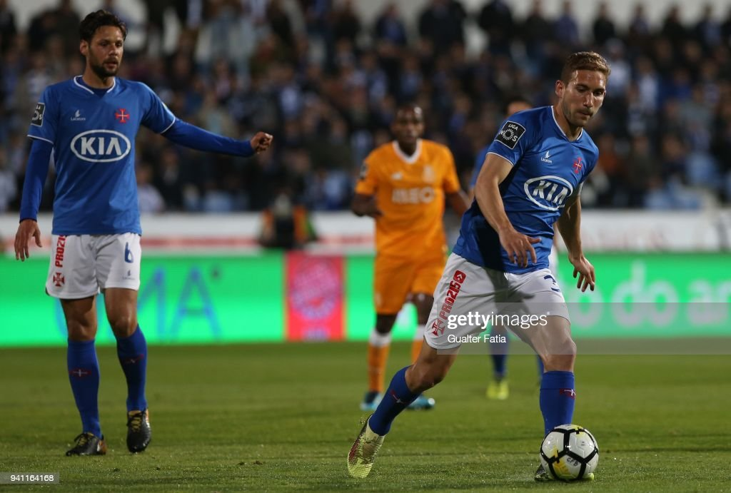 CF Os Belenenses defender Goncalo Silva from Portugal in action during the Primeira Liga match between CF Os Belenenses and FC Porto at Estadio do Restelo on April 2, 2018 in Lisbon, Portugal.
