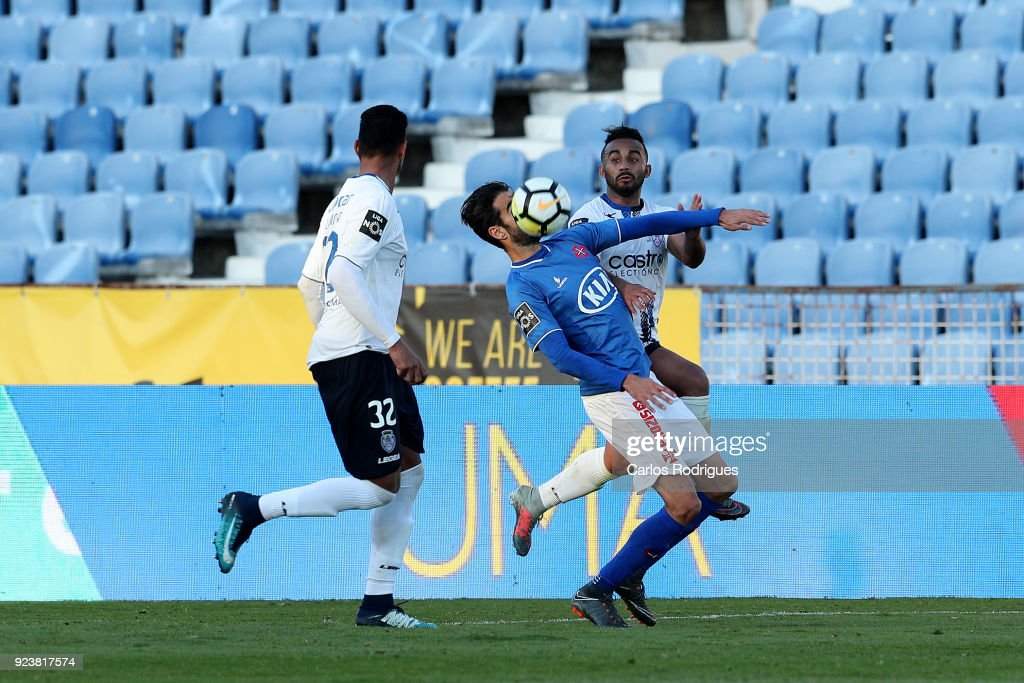 CF Os Belenenses forward Tiago Caeiro from Portugal during the Primeira Liga match between CF Os Belenenses and CD Feirense at Estadio do Restelo on February 24, 2017 in Lisbon, Portugal.
