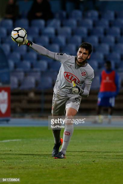 CF Os Belenenses Goalkeeper Andre Moreira from Portugal during the Premier League 2017/18 match between CF Os Belenenses v FC Porto at Estadio do...