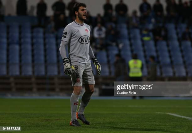 Os Belenenses goalkeeper Andre Moreira from Portugal in action during the Primeira Liga match between CF Os Belenenses and Sporting CP at Estadio do...