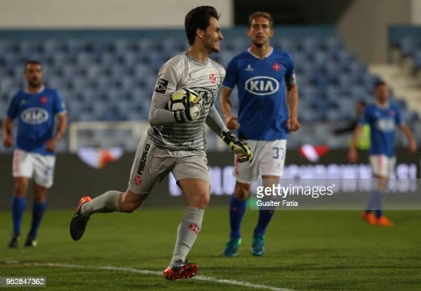 Os Belenenses goalkeeper Andre Moreira from Portugal in action during the Primeira Liga match between CF Os Belenenses and SC Braga at Estadio do...