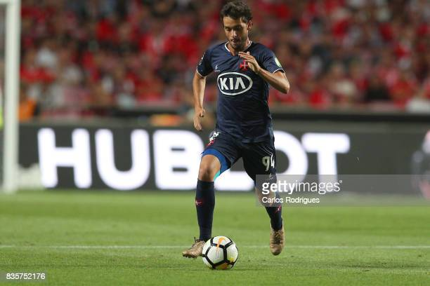 Os Belenenses midfielder Filipe Chaby from Portugal during the match between SL Benfica and CF Belenenses for the third round of the Portuguese...
