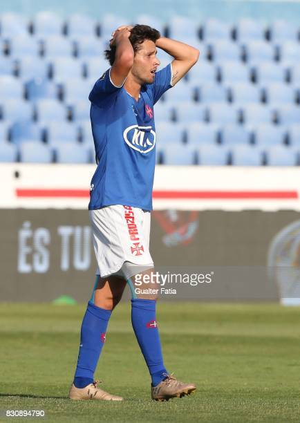 Os Belenenses midfielder Filipe Chaby from Portugal reaction after missing a goal opportunity during the Primeira Liga match between CF Os Belenenses...