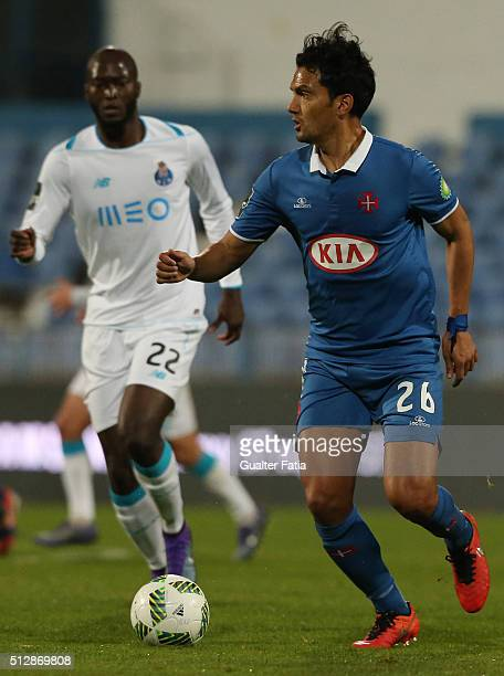 Os Belenenses midfielder from Colombia Abel Aguilar in action during the Primeira Liga match between Os Belenenses and FC Porto at Estadio do Restelo...