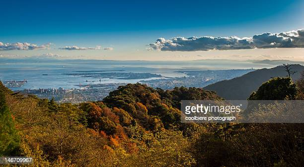 Osaka bay from Rokko mountain