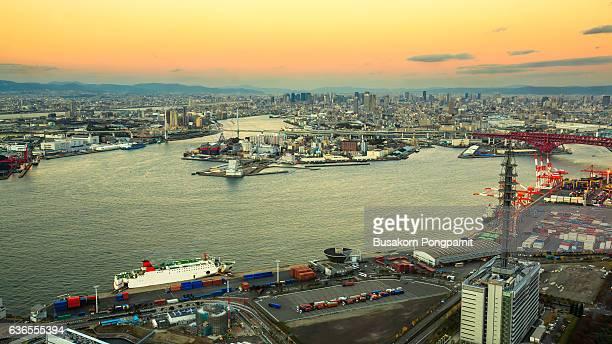 Osaka Bay, in Osaka Japan Industries