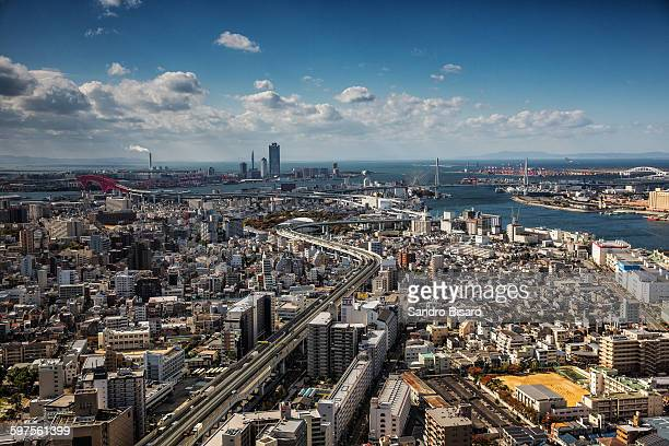 Osaka Bay Skyline on a clear day
