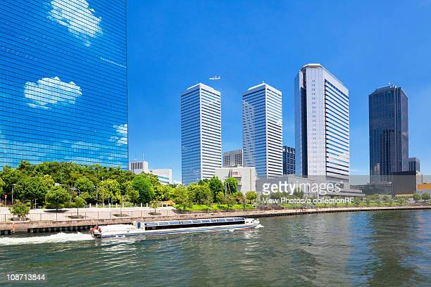osaka business park, osaka city, osaka prefecture, honshu, japan - 大阪ビジネスパーク ストックフォトと画像