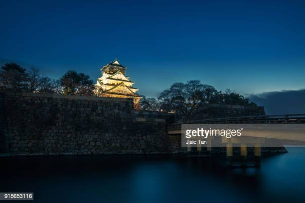 osaka castle at night