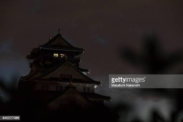 Osaka Castle in the Dusk