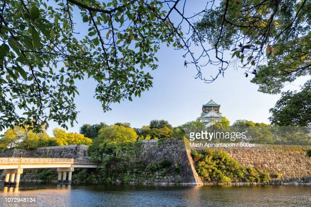 osaka castle - infrared lamp stock photos and pictures
