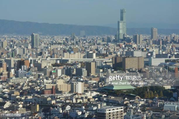 Osaka city aerial view
