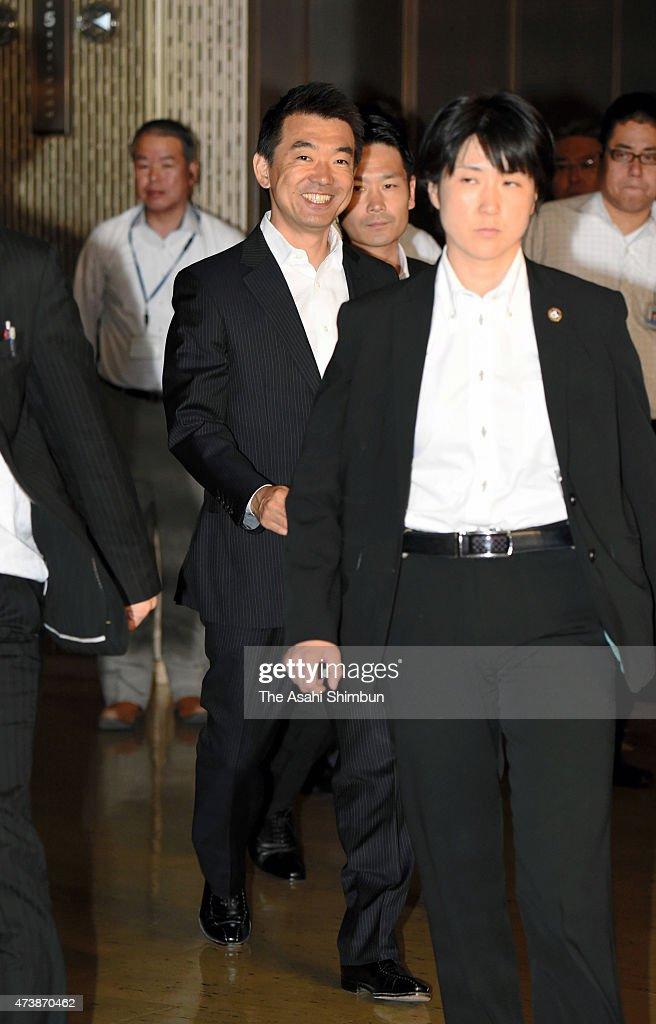 Osaka Mayor Hashimoto Attends City Hall A day After Defeat of Referendum