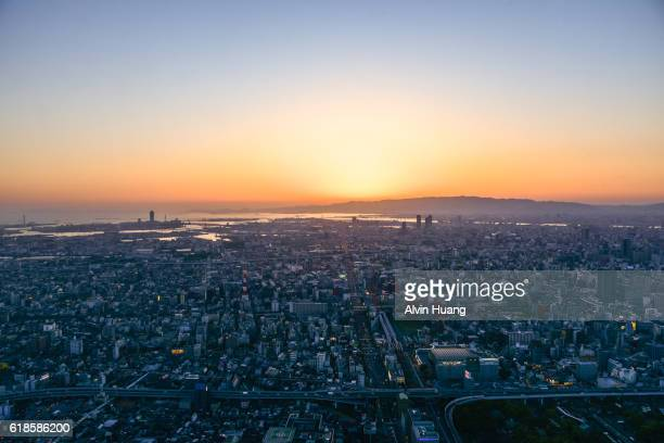 Osaka city Sunset