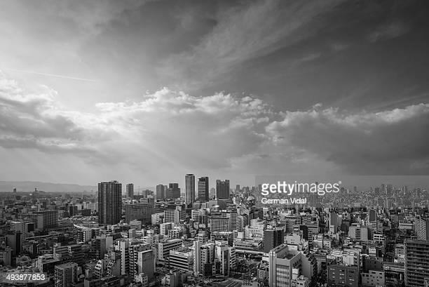 Osaka city view.