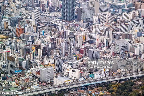 osaka city view - 通天閣 ストックフォトと画像
