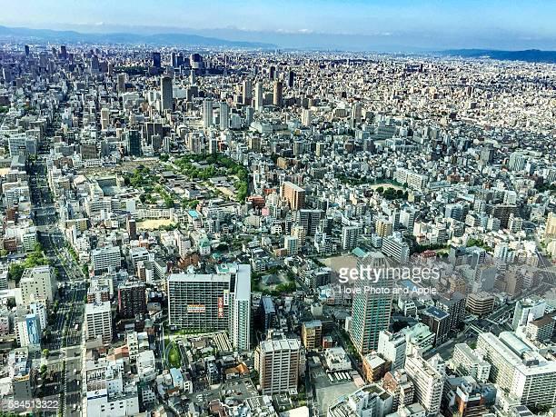 Osaka city view