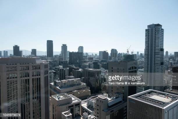 Osaka cityscape in Japan