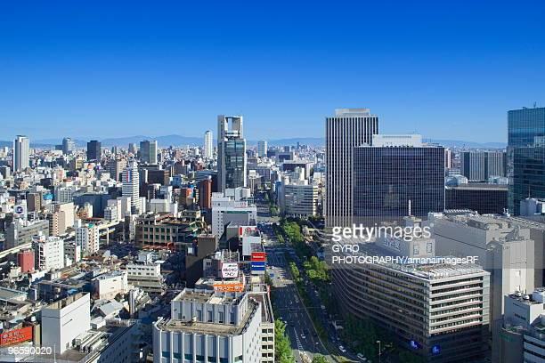 Osaka cityscape, Osaka city, Osaka prefecture, Japan
