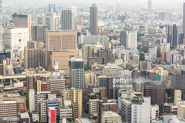 osaka cityscape - didier marti stock photos and pictures