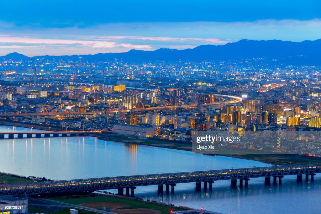 Osaka cityscape : Stock Photo
