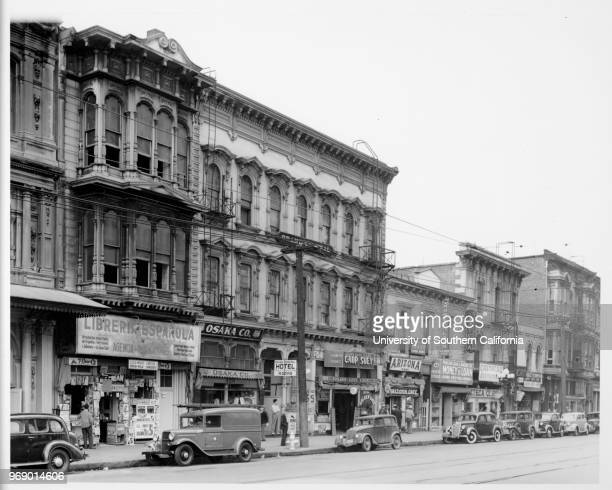 Osaka Company Grand Central Hotel Arizona Cafe Azteca Restaurant Golden Gate Cafe Chop Suey Los Angeles California ca 19201940
