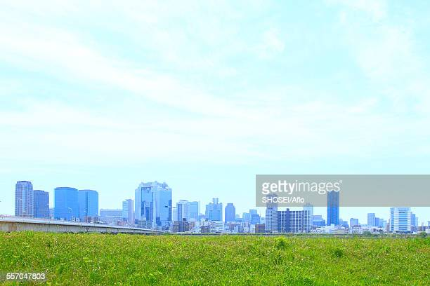osaka, japan - water's edge stock pictures, royalty-free photos & images