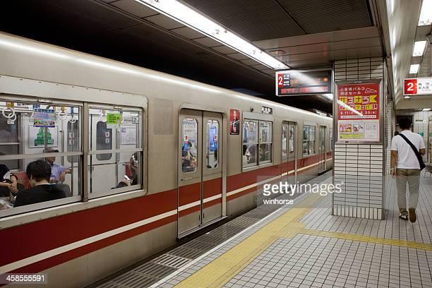 大阪市の地下鉄で日本