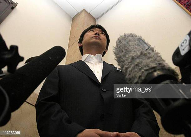 Osaka Prefecture governor Toru Hashimoto speaks to the media after the assembly session to pass the bill to reduce the number of assembly members...