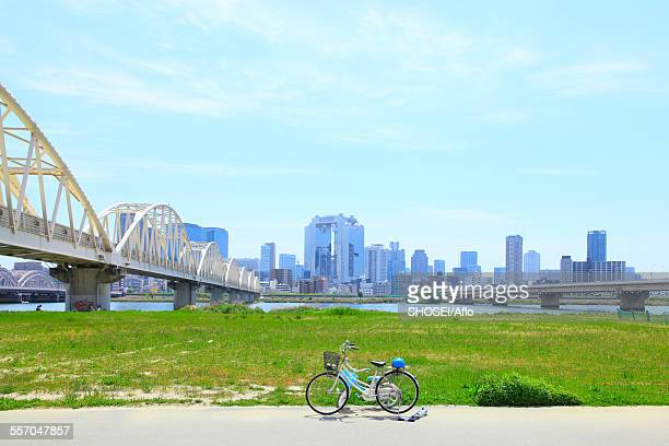 osaka prefecture, japan - riverbank stock photos and pictures