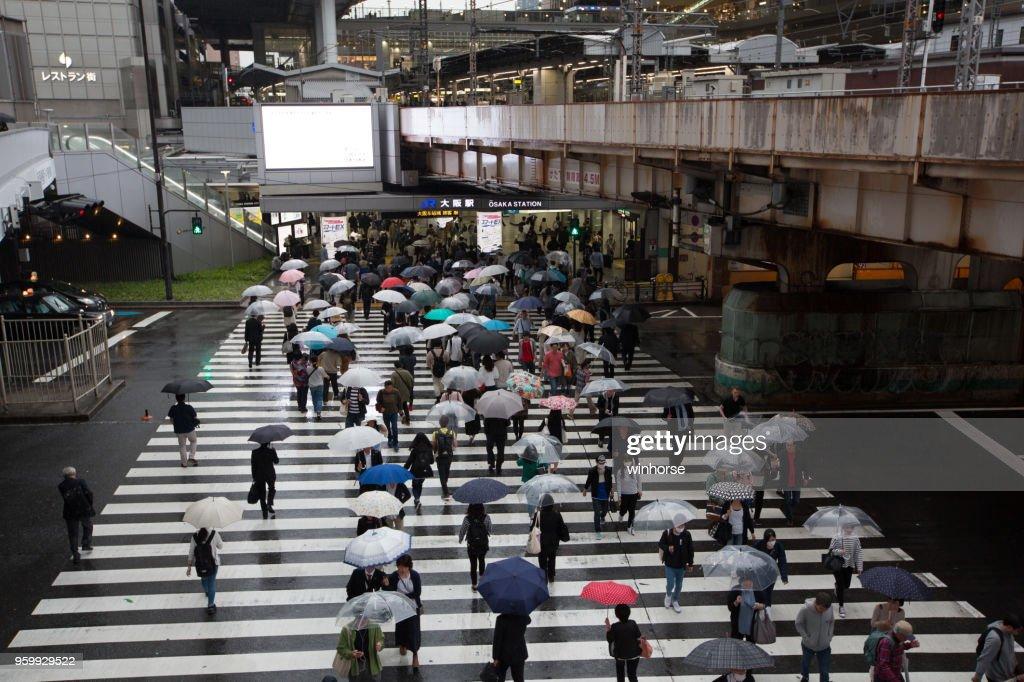 Bahnhof Osaka Hotel in Japan : Stock-Foto