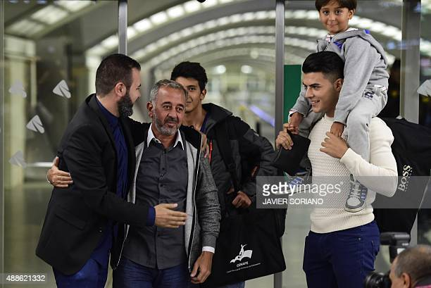 Osama Abdul Mohsen the Syrian refugee who made world headlines when a Hungarian journalist tripped him over as he fled and his sons Zaid and Mohammed...
