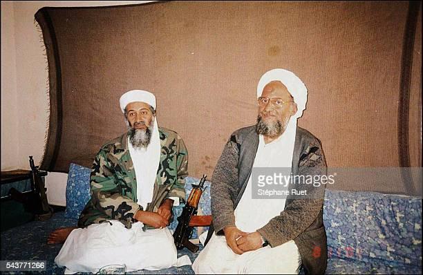 Osama bin Laden accomapnied by his righthand manDr Ayman AlZuwahiri